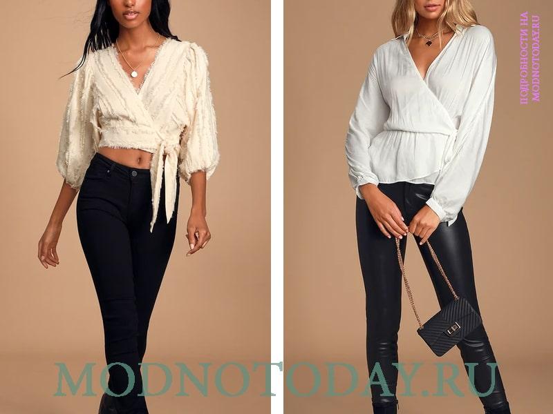 Два варианта повседневных блузок из оригинальных тканей