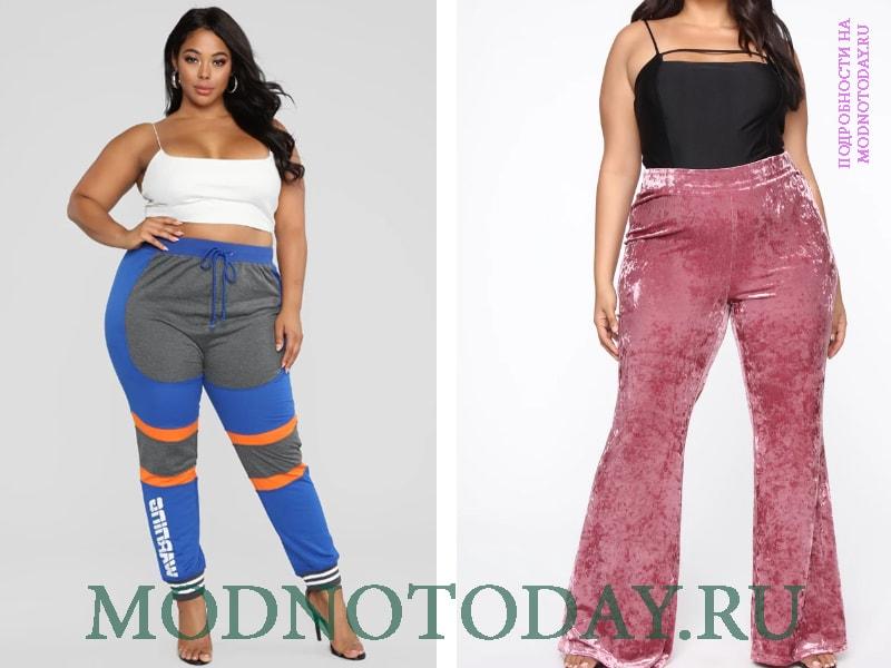 Спортивные и вельветовые штаны - соответственно на фото