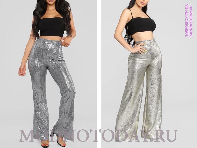 Блестящие брюки в стиле диско