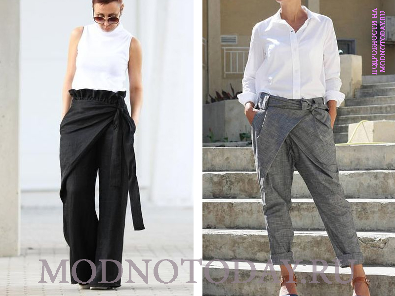 Деловые модели в сочетании с белой рубашкой