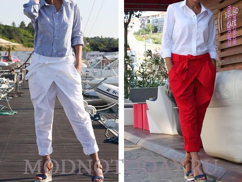Повседневные модели с рубашкой и блузкой