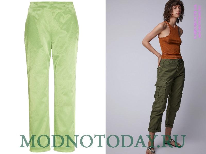 Салатовый и темно-зеленый цвет в одежде