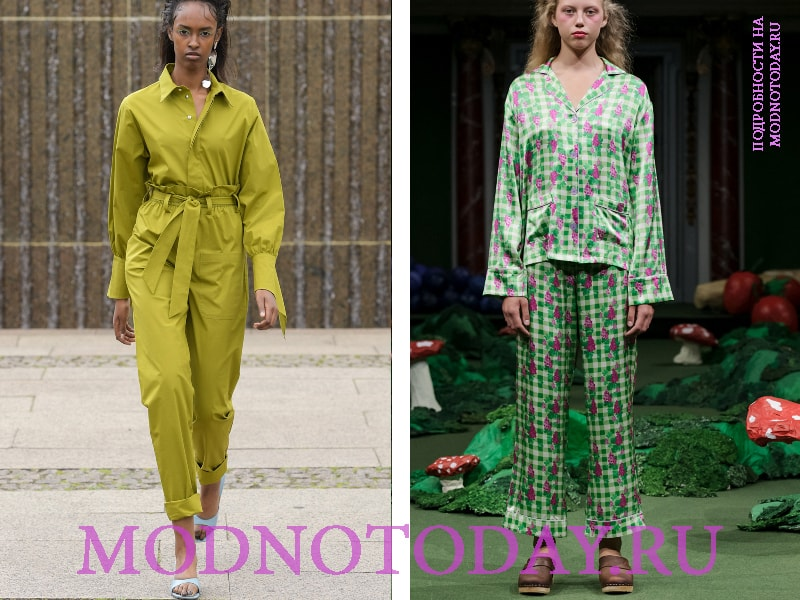 Пижамный и милитари стиль в моде
