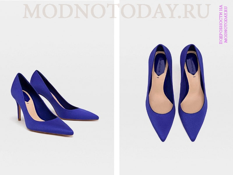 Туфли синего цвета Stradivarius