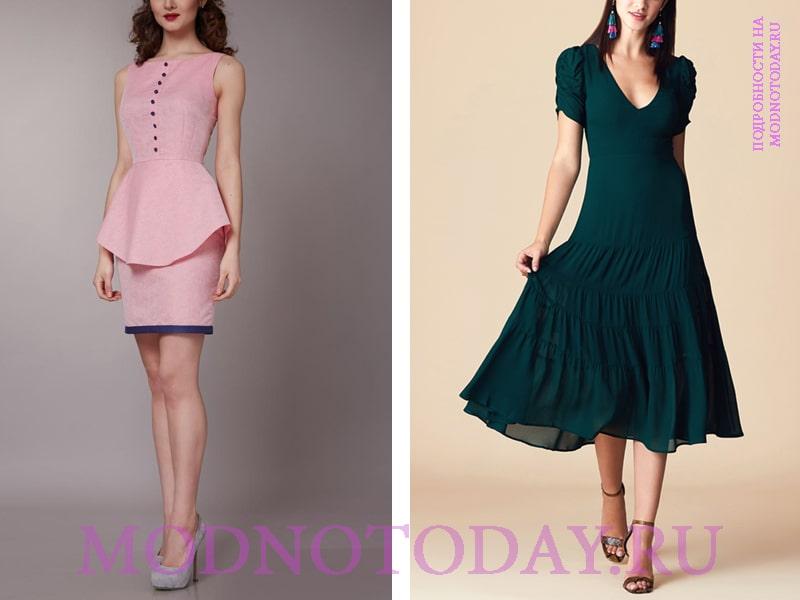 Стильное платье на фигуру прямоугольник