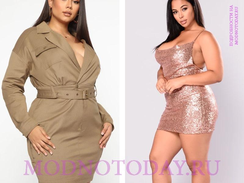 Удачные платья для женщин яблоко