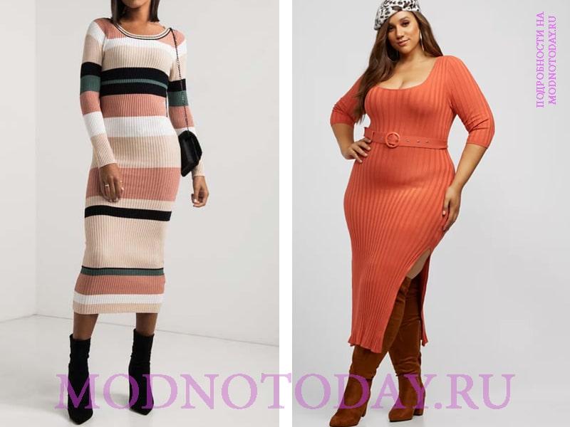 С чем носить стильное длинное платье?