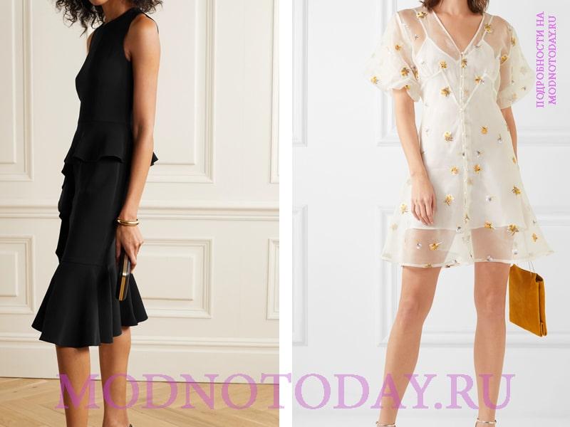 Примеры моделей коктейльного платья