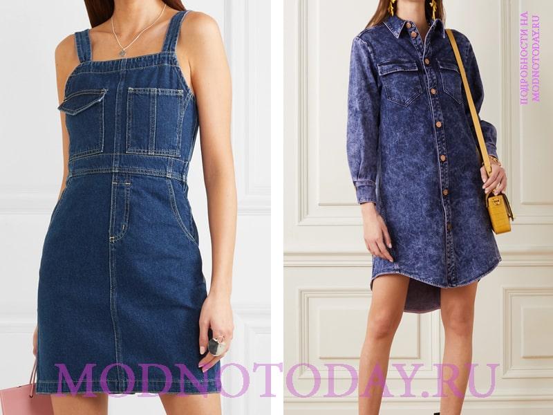 Фасоны джинсовых платьев