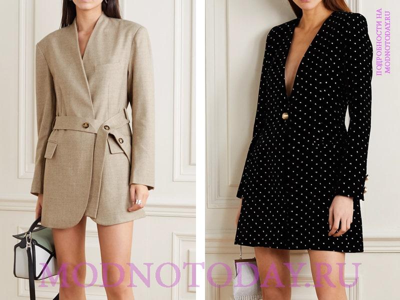 Строгое и вечернее платье-пиджак