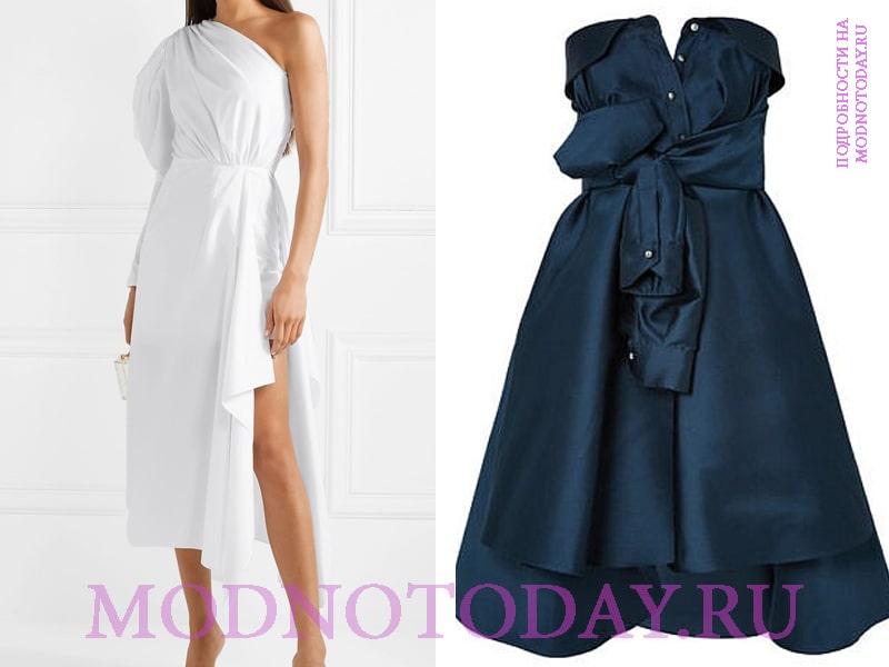 Платье с ассиметричным лифом