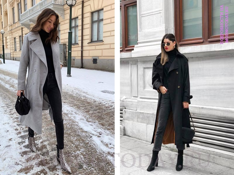Образ с ботинками и пальто
