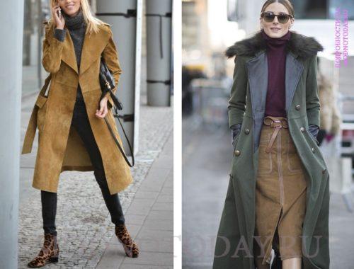 Образы с женским длинным пальто