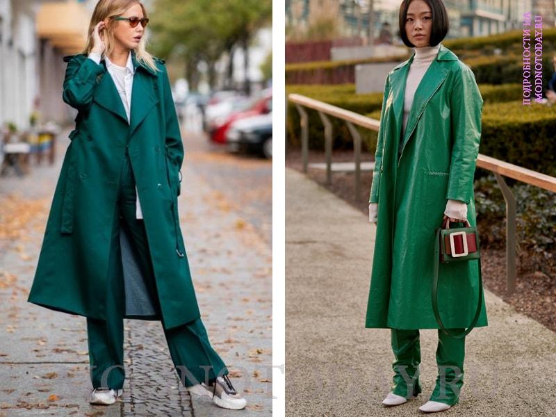 Образ с пальто миди
