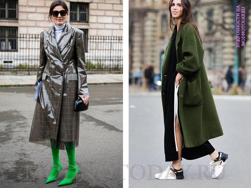 Образ с женским длинным пальто