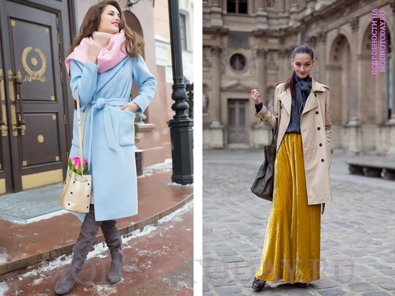 Обувь под длинное пальто с юбкой