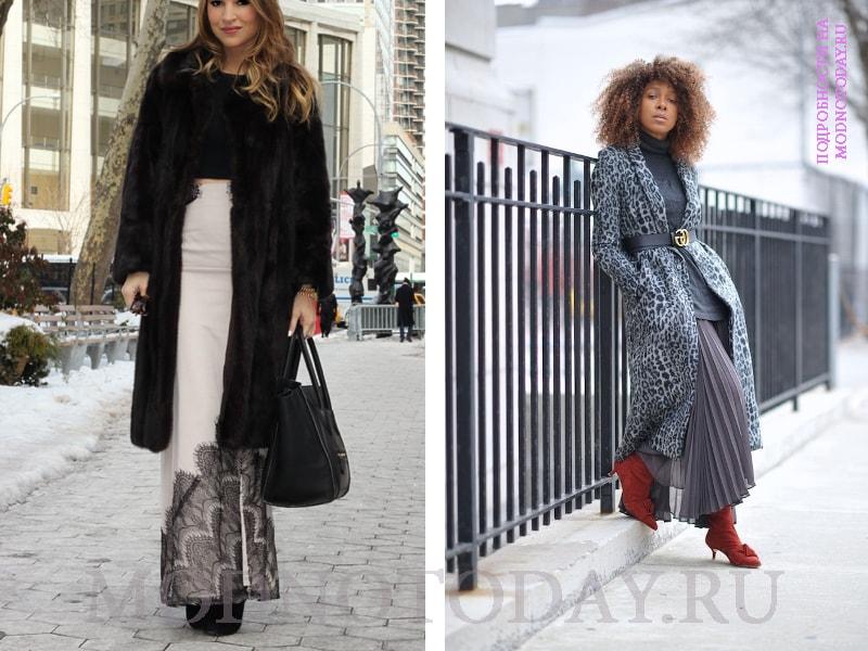 Женский образ с длинным пальто