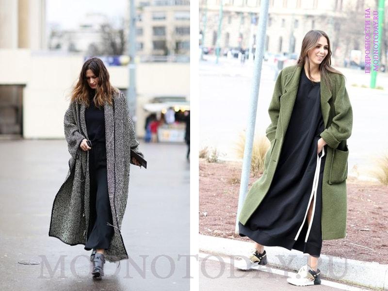 Красивый образ с длинным пальто