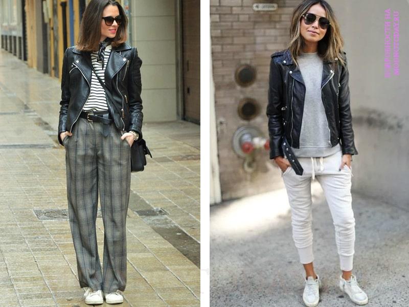 Образ с брюками и косухой