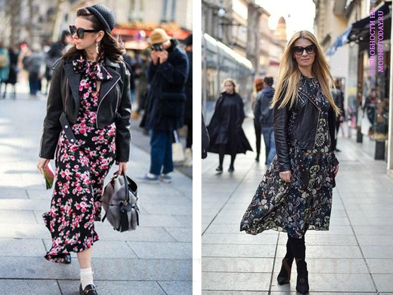 На фото модная косуха с платьями